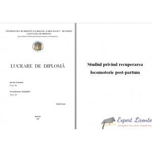 STUDIU PRIVIND RECUPERAREA LOCOMOTORIE POST-PARTUM
