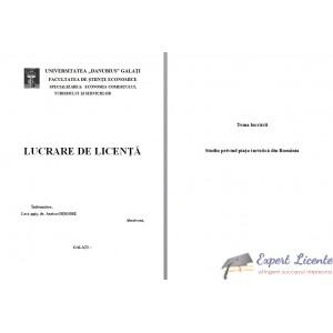 STUDIU PRIVIND PIATA TURISTICA DIN ROMANIA – LUCRARE DE LICENTA