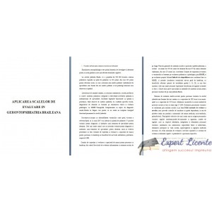 APLICAREA SCALELOR DE EVALUARE IN GERONTOPSIHIATRIA BRAILEANA