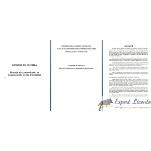 BLOCAJE DE COMUNICARE IN ORGANIZATIILE DE TIP INDUSTRIAL – LUCRARE DE LICENTA