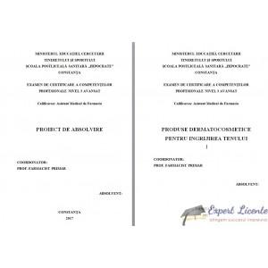 PRODUSE DERMATOCOSMETICE PENTRU INGRIJIREA TENULUI