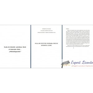 SCALA DE INTENTIE SUICIDARA BECK SI INTERVIUL CLINIC