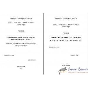 METODE DE RECUPERARE MEDICALA BALNEOFIZIPTERAPICE IN GERIATRIE