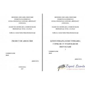KINETOTERAPIA SI RECUPERAREA COPIILOR CU TULBURARI DE DEZVOLTARE