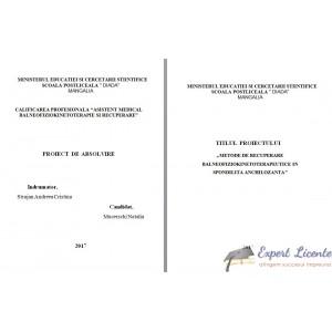 METODE DE RECUPERARE BALNEOFIZIOKINETOTERAPEUTICE IN SPONDILITA ANCHILOZANTA