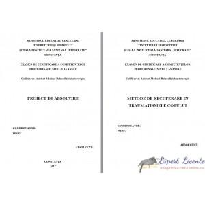 METODE DE RECUPERARE IN TRAUMATISMELE COTULUI