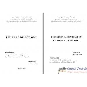 INGRIJIREA PACIENTULUI CU EPIDERMOLIZA BULOASA