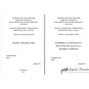 INGRIJIREA PACIENTILOR CU FRACTURA DE FALANGA LA MEMBRUL INFERIOR