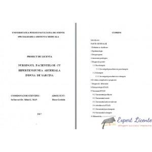 NURSINGUL PACIENTELOR CU HIPERTENSIUNE ARTERIALA INDUSA DE SARCINA