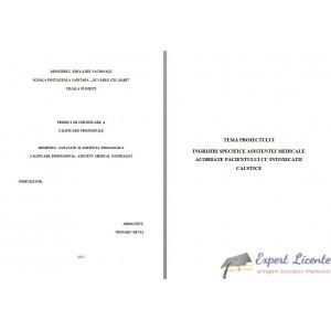INGRIJIRI SPECIFICE ASISTENTEI MEDICALE ACORDATE PACIENTULUI CU INTOXICATII CAUSTICE