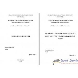INGRIJIREA PACIENTULUI CU ANEMIE PRIN DEFIT DE VITAMINA B12 SI ACID FOLIC