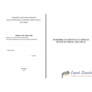 ÎNGRIJIREA PACIENTULUI CU DEFICIT MOTOR (SCLEROZA MULTIPLĂ)