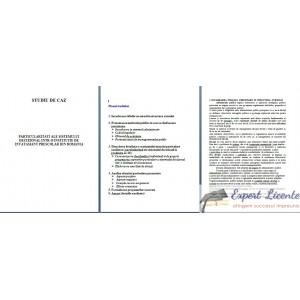 PARTICULARITATI ALE SISTEMULUI DECIZIONAL INTR-O INSTITUTIE DE INVATAMANT PRESCOLAR DIN ROMANIA – STUDIU DE CAZ