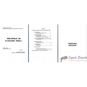 PORTOFOLIU DE EVALUARE FINALA - PROIECT EDUCATIONAL