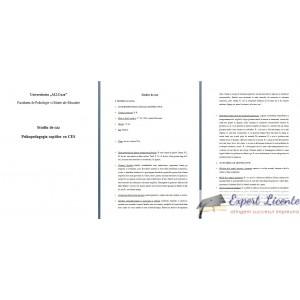 PSIHOPEDAGOGIA COPIILOR CU CES - STUDIU DE CAZ