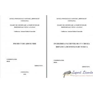 INGRIJIREA PACIENTILOR CU CIROZA HEPATICA DE ETIOLOGIE TOXICA (1)