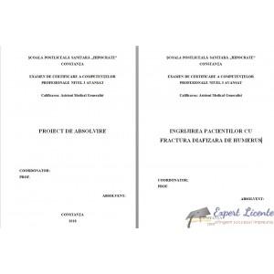 INGRIJIREA PACIENTILOR CU FRACTURA DIAFIZARA DE HUMERUS