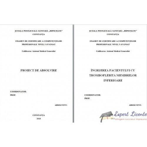 studiu de caz pacient cu tromboflebita