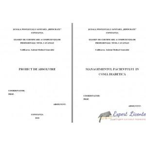 MANAGEMENTUL PACIENTULUI  IN COMĂ DIABETICĂ (1)