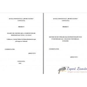 METODE DE RECUPERARE BALNEOFIZIOTERAPEUTICE  IN DEFORMARI ALE  COLOANEI VERTEBRALE- SCOLIOZE