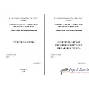 METODE DE RECUPERARE BALNEOFIZIOTERAPEUTICE IN HERNIA DE DISC OPERATA