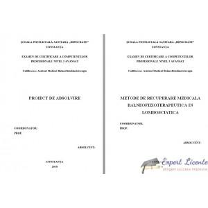 METODE DE RECUPERARE MEDICALA BALNEOFIZIOTERAPEUTICA IN LOMBOSCIATICA
