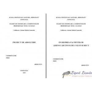 INGRIJIREA PACIENTILOR ADENOCARCINOM DE COLON SI RECT