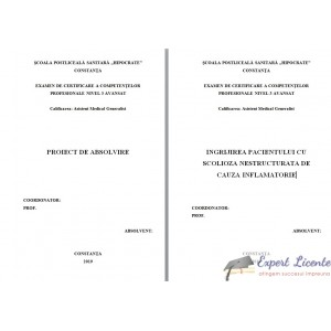 INGRIJIREA PACIENTULUI CU SCOLIOZA NESTRUCTURATA DE CAUZA INFLAMATORIE