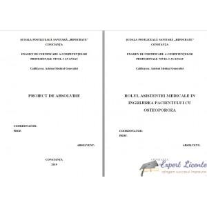 ROLUL ASISTENTEI MEDICALE IN INGRIJIREA PACIENTULUI CU OSTEOPOROZA