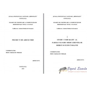 STUDIU COMPARATIV AL FARMACOLOGIEI MEDICAMENTELOR BEHICE SI EXPECTORANTE